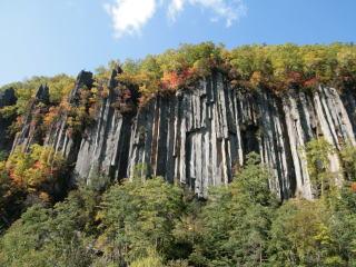 層雲峡の柱状節理